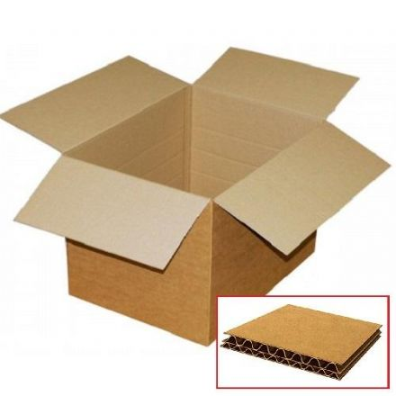 Double Wall Cardboard Box<br>Size: 510x510x525mm<br>Pack of 15